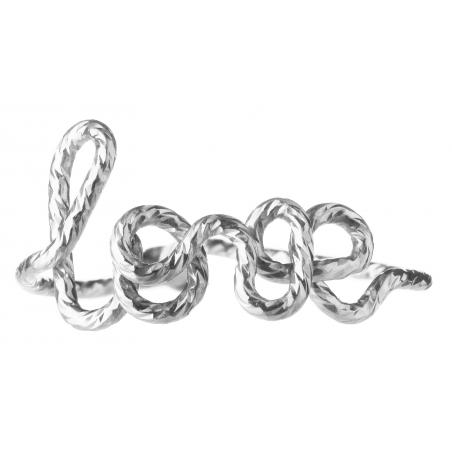 """Bague """"Love"""" au fil Sparkle"""