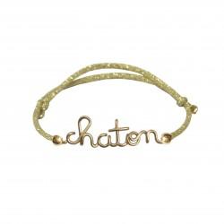 Bracelet chaton pailleté