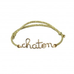 Glittered kitten bracelet