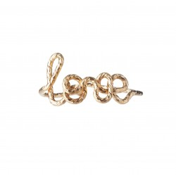 """Ring """"Love"""" with Sparkle Wire"""