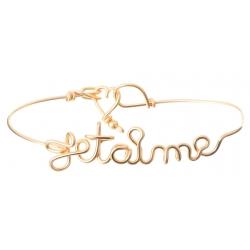 Bracelet Jonc Je t'aime
