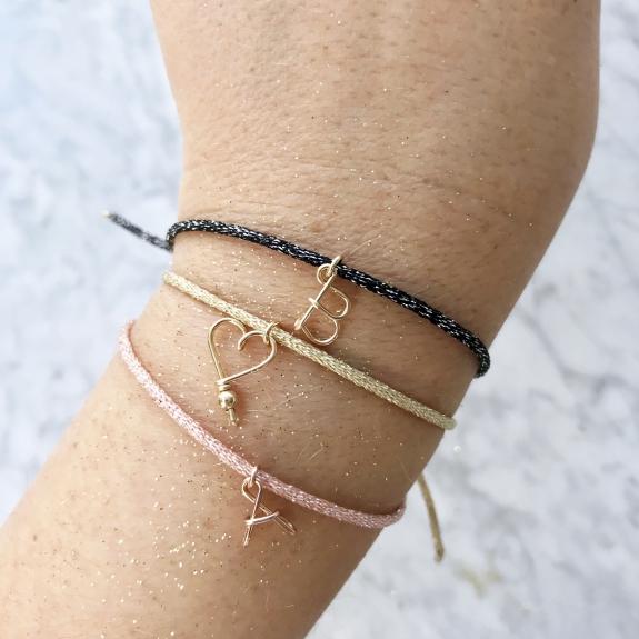 Bracelet Mon petit coeur à paillettes