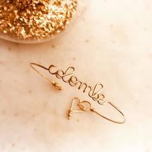 Aujourd'hui on célèbre les belles «Colombe» ♡  Très bon mardi à tous ... . #padampadam #padampadamparis #artisanatfrancais #mafeinfrance #braceletpersonnalisé #colombe