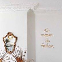 Dans la maison du bonheur de la jolie @b_r_u_m_e_s ♡ ... Merci pour cette magnifique photo !  Très belle journée à tous ! . #lamaisondubonheur #deco #design #architecture #miroir #bonheur #interior #interieur #decoration #motdeco #madeinfrance