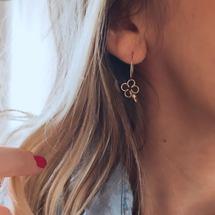 Notre petite Bo mon trèfle... Toutes nos bo sont vendues à l'unité créez vous même votre jolie paire ! . Très belle journée à vous tous ! . #padampadam #bo #trefle #chance #madeinfrance #bouclesdoreilles #earings #jewelry