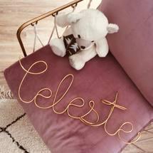 Happy c'est mercredi le jour des tous petits ! Aujourd'hui on prépare la chambre d'une jolie petite «Céleste» ♡  Personnalisez vous aussi vos jolis intérieurs ! Très belle journée à tous !  . #deco #design #room #interieur #accessoires #mercredi #padampadam #bijoudinterieur #decomurale #decoration #style #kids #enfant #celeste #madeinfrance #motdeco