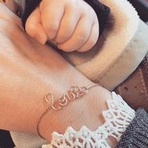 Fondance du jour ... Mercredi la journée des tous petits ... Merci pour toutes vos jolies photos et adorables messages ♡  . #louis #jonc #sparkle #padampadam #madeinfrance #baby #love #padampadamparis #braceletpersonnalisé